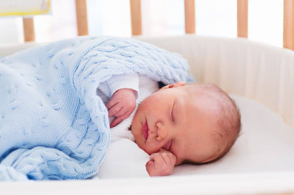 Newborn Sleep In a Crib